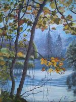 akril50x40-jesen-na-plitvicama