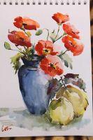 akvarel-vaza-makovi-dunje-32.5x39