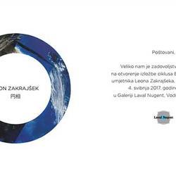 """Izložba Leona Zakrajšeka  """"Enso""""..."""