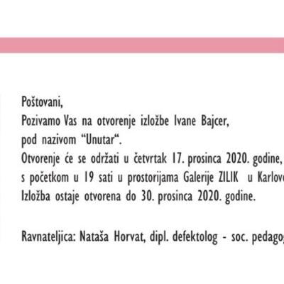 """Samostalna izložba Ivane Bajcer """"Unutar"""""""