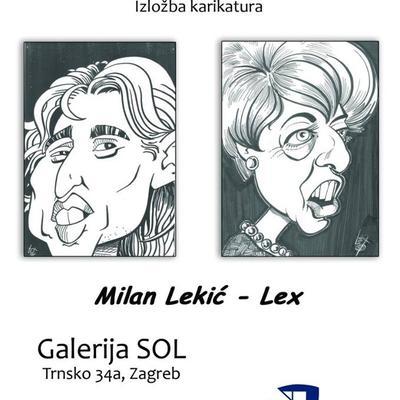 """Izložba karikatura Milana Lekića - Lexa """"Bijelo CRNI Svijet"""""""