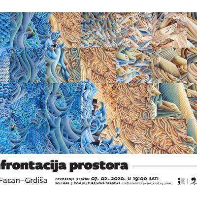 """Samostalna izložba Damira Facana-Grdiše """"Konfrontacija prostora"""""""