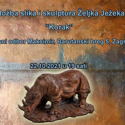 """Samostalna izložba slika i skulptura Željka Ježeka """"Korak"""""""