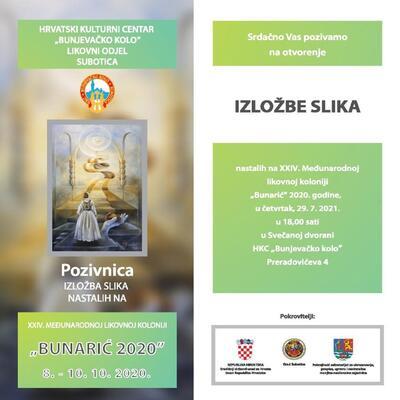 """Izložba slika nastalih na međunarodnoj likovnoj koloniji """"Bunarić 2020"""""""