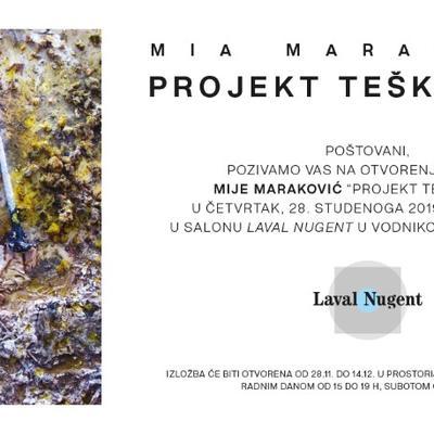 """Izložba Mije Maraković """"Projekt teški otpad"""""""