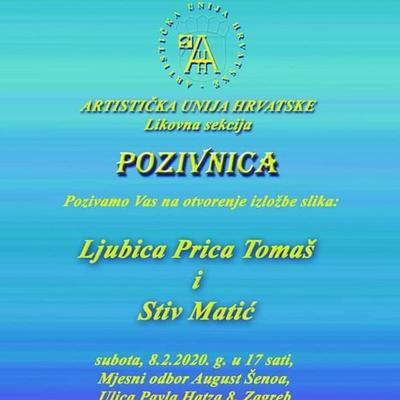 Izložba slika Ljubice Price Tomaš i Stiva Matića